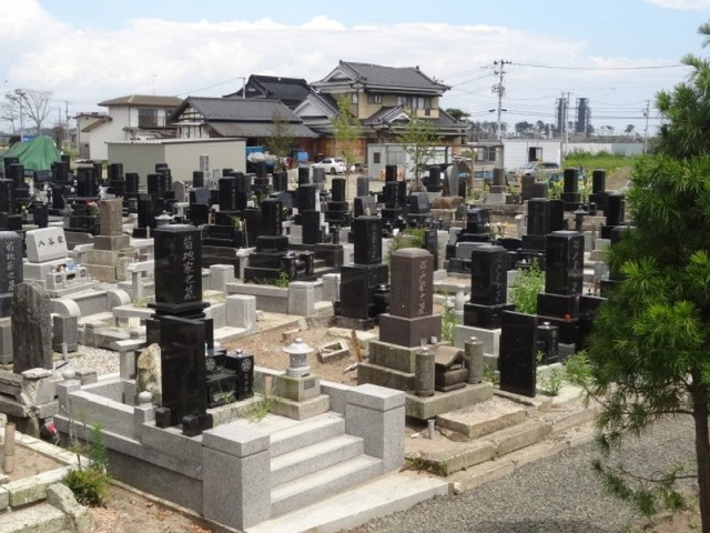 Part of the cemetery.