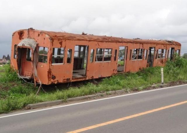 The rail carriage has been removed.